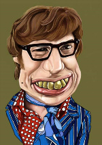 Groovy Baby...Get Austin Powers Man of Mystery to create a Shagadelic scene at your party...Yeah Baby!